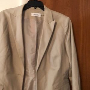 Calvin Klein khaki blazer